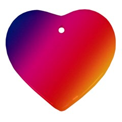 Rainbow Colors Heart Ornament (two Sides)