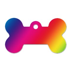 Rainbow Colors Dog Tag Bone (one Side)