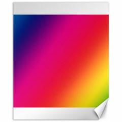 Rainbow Colors Canvas 11  X 14