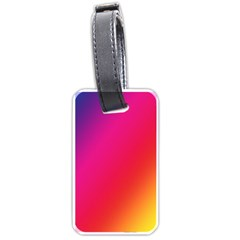 Rainbow Colors Luggage Tags (one Side)
