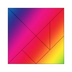 Rainbow Colors Acrylic Tangram Puzzle (6  X 6 )