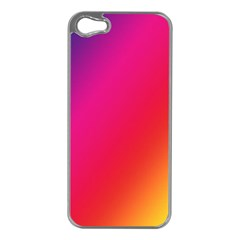 Rainbow Colors Apple Iphone 5 Case (silver)