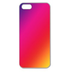 Rainbow Colors Apple Seamless Iphone 5 Case (clear)
