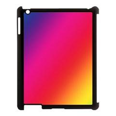 Rainbow Colors Apple Ipad 3/4 Case (black)