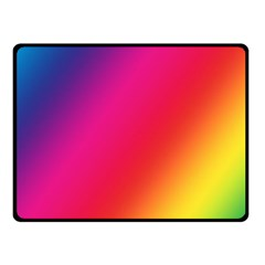 Rainbow Colors Double Sided Fleece Blanket (small)