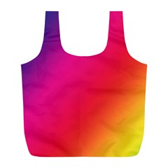 Rainbow Colors Full Print Recycle Bags (L)