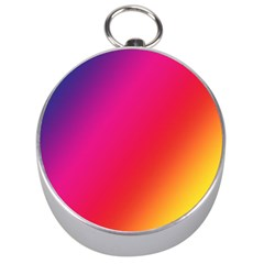 Rainbow Colors Silver Compasses