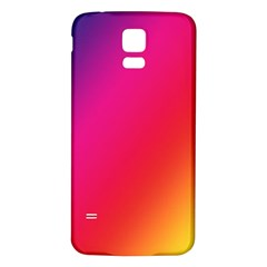 Rainbow Colors Samsung Galaxy S5 Back Case (white)