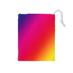 Rainbow Colors Drawstring Pouches (medium)