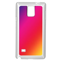 Rainbow Colors Samsung Galaxy Note 4 Case (white)