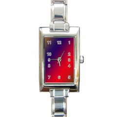 Rainbow Two Background Rectangle Italian Charm Watch