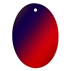 Rainbow Two Background Ornament (Oval)