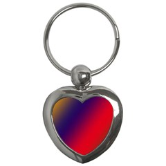 Rainbow Two Background Key Chains (Heart)