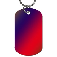 Rainbow Two Background Dog Tag (one Side)