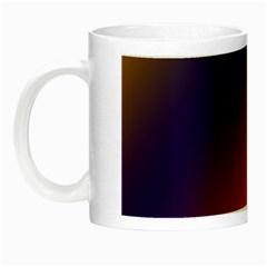 Rainbow Two Background Night Luminous Mugs