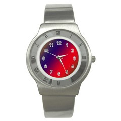 Rainbow Two Background Stainless Steel Watch