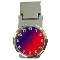 Rainbow Two Background Money Clip Watches