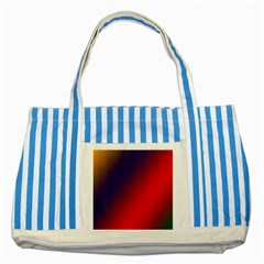 Rainbow Two Background Striped Blue Tote Bag