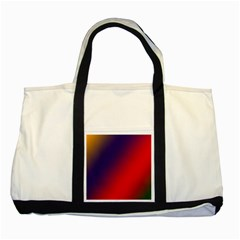 Rainbow Two Background Two Tone Tote Bag