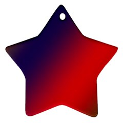 Rainbow Two Background Star Ornament (two Sides)