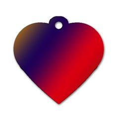 Rainbow Two Background Dog Tag Heart (one Side)