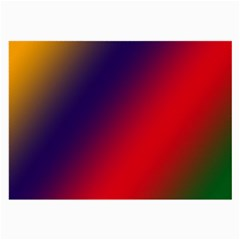 Rainbow Two Background Large Glasses Cloth