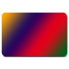 Rainbow Two Background Large Doormat