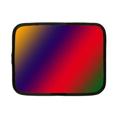 Rainbow Two Background Netbook Case (small)