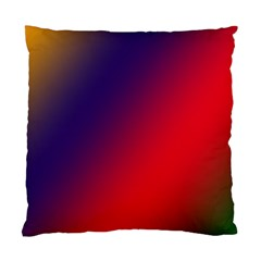 Rainbow Two Background Standard Cushion Case (two Sides)