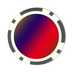 Rainbow Two Background Poker Chip Card Guard (10 Pack)
