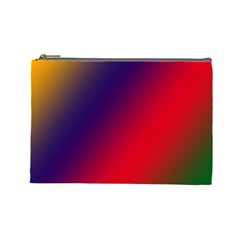 Rainbow Two Background Cosmetic Bag (large)