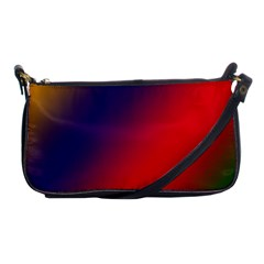 Rainbow Two Background Shoulder Clutch Bags