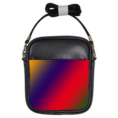 Rainbow Two Background Girls Sling Bags