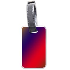 Rainbow Two Background Luggage Tags (two Sides)