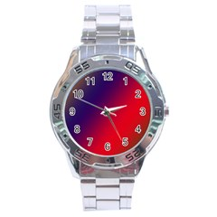 Rainbow Two Background Stainless Steel Analogue Watch