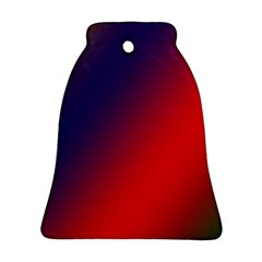 Rainbow Two Background Ornament (bell)