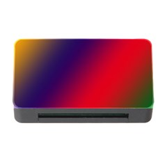 Rainbow Two Background Memory Card Reader With Cf