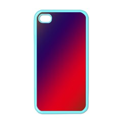 Rainbow Two Background Apple Iphone 4 Case (color)