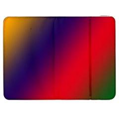 Rainbow Two Background Samsung Galaxy Tab 7  P1000 Flip Case