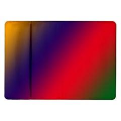 Rainbow Two Background Samsung Galaxy Tab 10 1  P7500 Flip Case