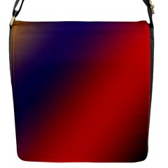 Rainbow Two Background Flap Messenger Bag (s)