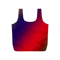 Rainbow Two Background Full Print Recycle Bags (s)