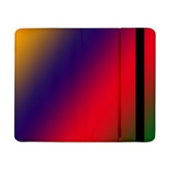 Rainbow Two Background Samsung Galaxy Tab Pro 8 4  Flip Case