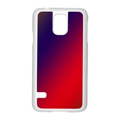 Rainbow Two Background Samsung Galaxy S5 Case (white)