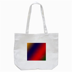 Rainbow Two Background Tote Bag (white)
