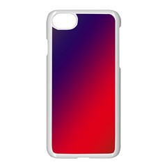Rainbow Two Background Apple Iphone 7 Seamless Case (white)