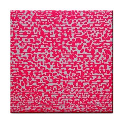 Template Deep Fluorescent Pink Tile Coasters