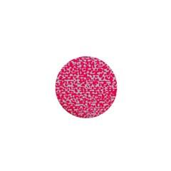 Template Deep Fluorescent Pink 1  Mini Buttons