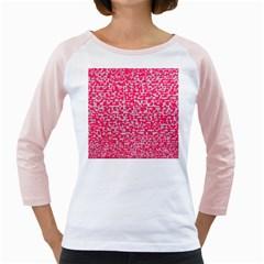 Template Deep Fluorescent Pink Girly Raglans