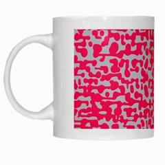 Template Deep Fluorescent Pink White Mugs
